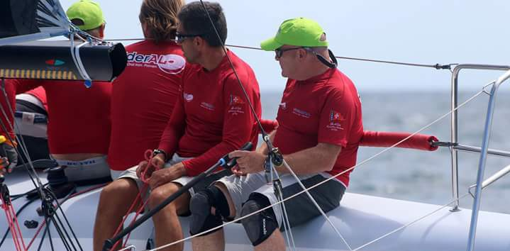 Gli allenamenti del team di Vitamina Sailing, parola all'armatore Andrea Lacorte