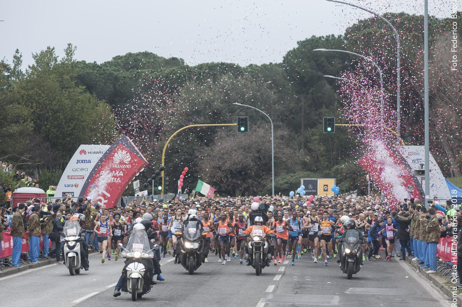 partenza roma ostia half marathon 2018
